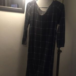 Loft windowpane dress